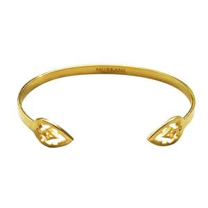 Murkani Casablanca open cuff bangle Gold