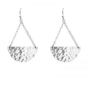 Murkani Moon and back earrings Sterling Silver