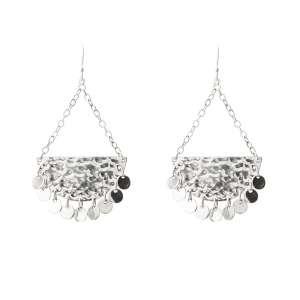 Murkani Moon and back disc earrings Sterling Silver