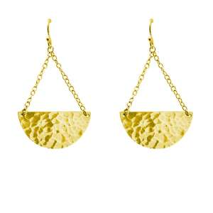 Murkani Moon and back earrings Gold
