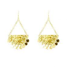 Murkani Moon and back disc earrings Gold