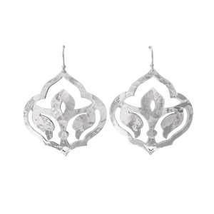 Murkani Moroccan drop Earrings Sterling Silver
