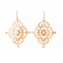 Murkani Gypsy Earrings in Rose Gold Plate