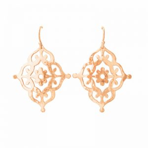 Murkani Gypsy Earrings in Rose Gold Plate
