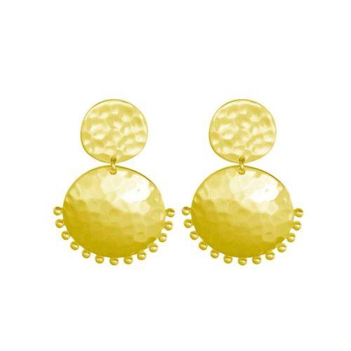 Murkani Tribal Stud Earrings Gold Plate
