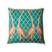 Orn Emerald flamingo cushion cover