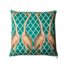 Orn Emerald flamingo cushion cover