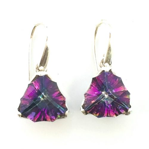 Preyas Mystic Topaz Earrings Triangular