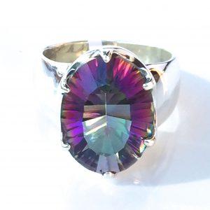 Preyas Mystic Topaz Ring Oval