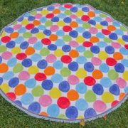 round beach towel spots