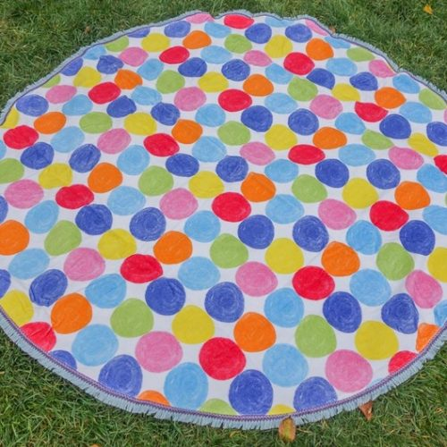 round beach towel spots