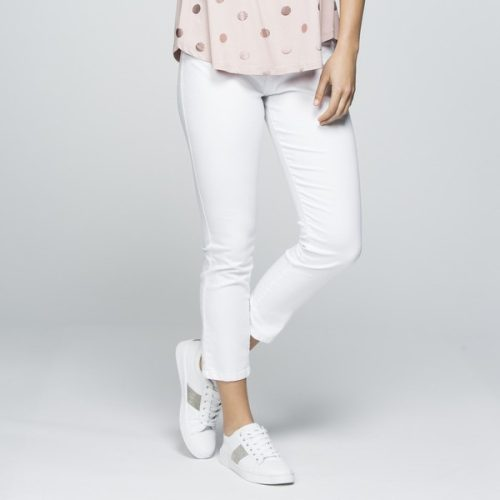 Threadz Cropped Stretch Jeans White