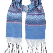 Noosa Living Tribal Dance Blue Scarf