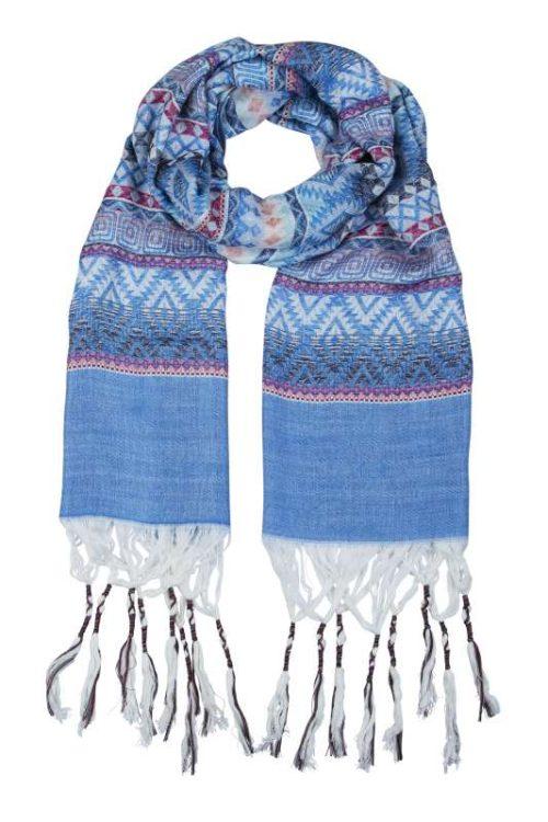 Noosa Living Tribal Dance Blue Scarf