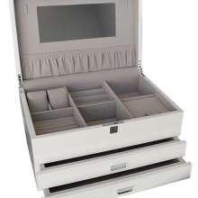 White gloss large jewellery box