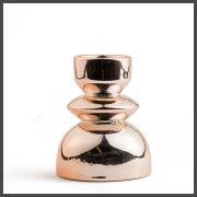 copper ceramic tealight holder
