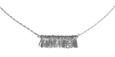 Ironclay tropical fringe necklace