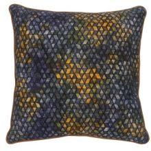 Eb & Ive Arabella cushion in Mustard Indigo 2281801